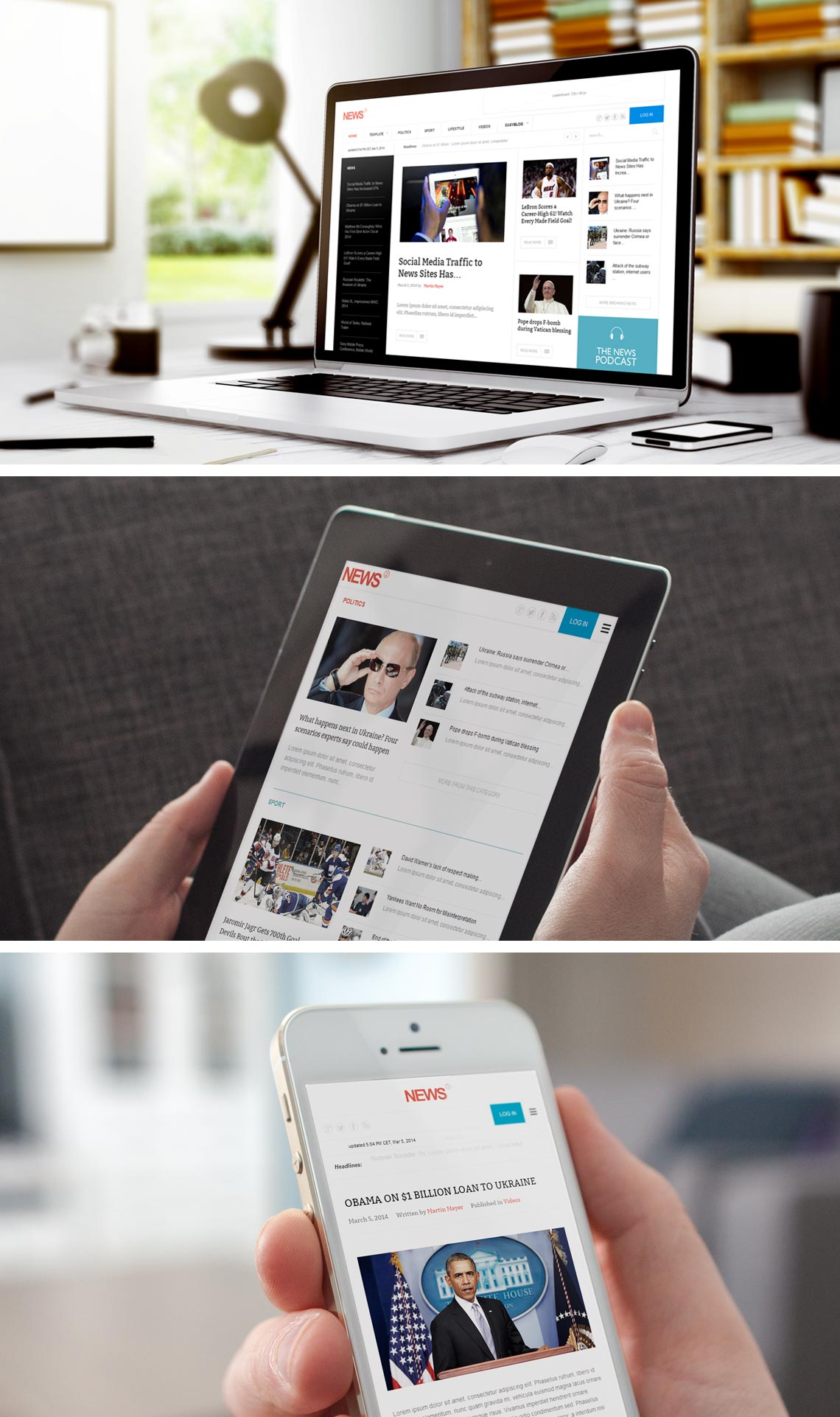 News 2 - Best Magazine News WordPress Theme
