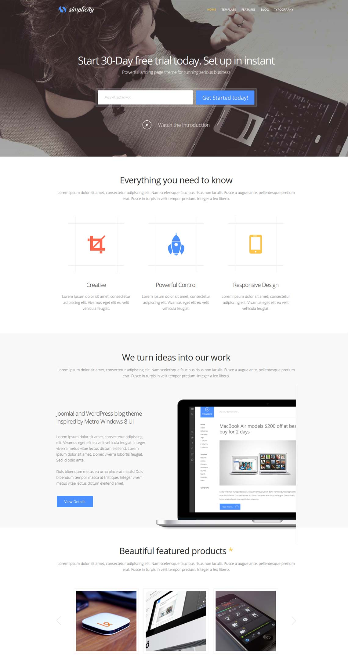 Simplicity premium wordpress theme for business with responsive simplicity business wordpress theme for startup cheaphphosting Images
