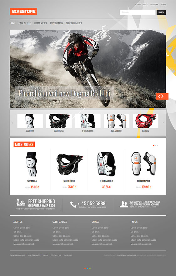 Bike Store | Best Responsive Ecommerce Wordpress Themes for Online ...