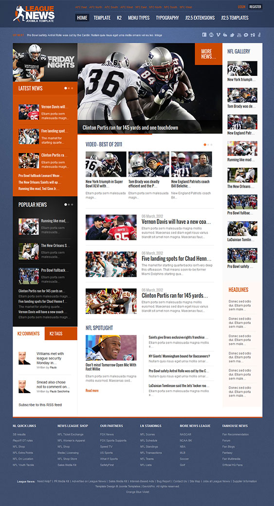 League News | Joomla Template For Sport News Portal