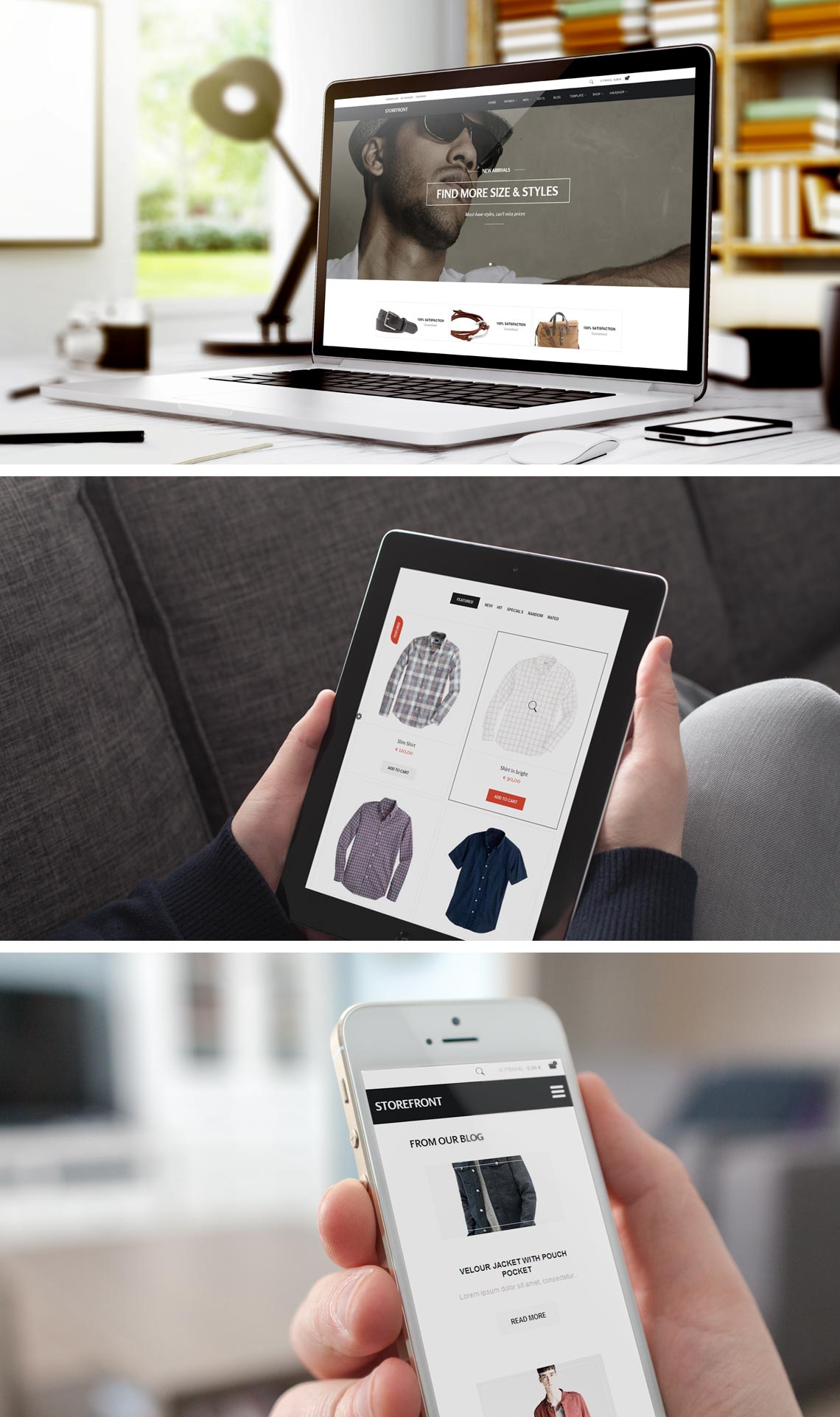 StoreFront - eCommerce Joomla Shopping Template