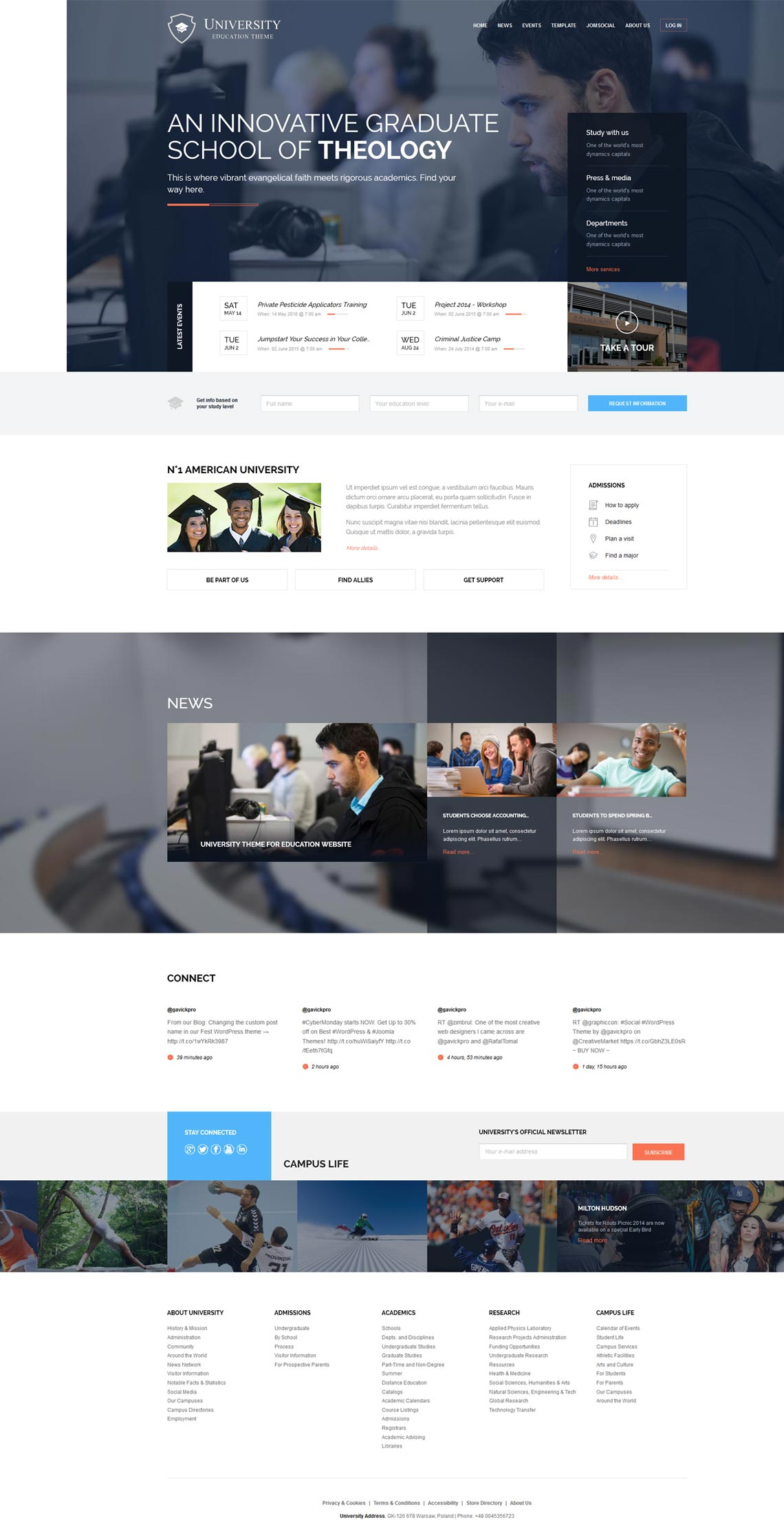 University - An education Joomla template
