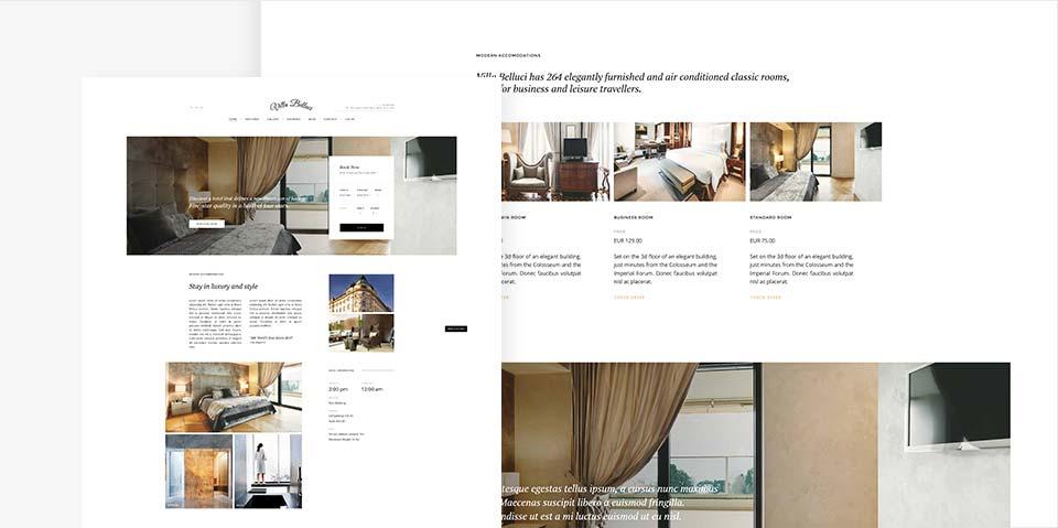 Hotel Joomla Template Vilal Belluci