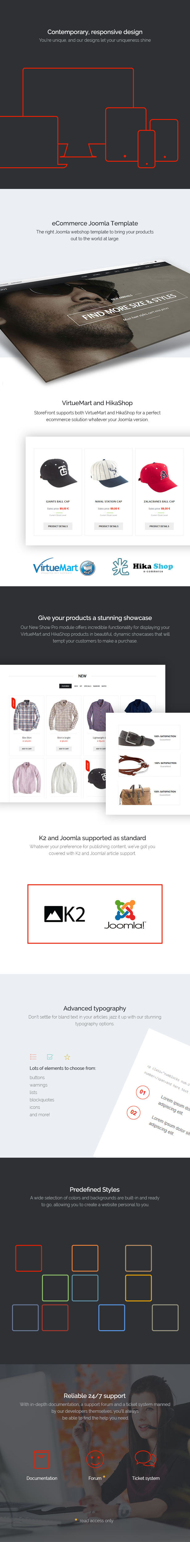 Storefront - eCommerce Joomla Template from GavickPro