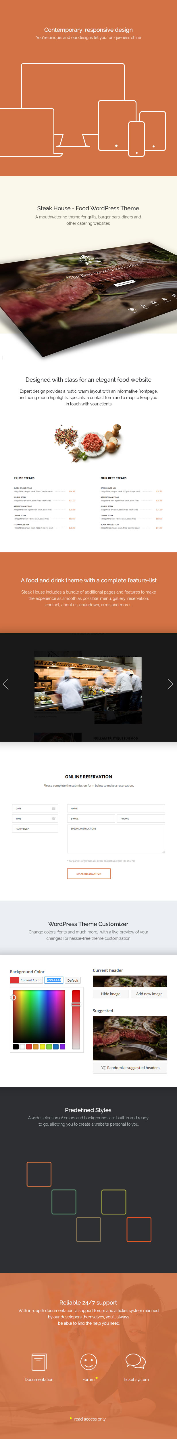 Steak House Food WordPress Theme (Food)