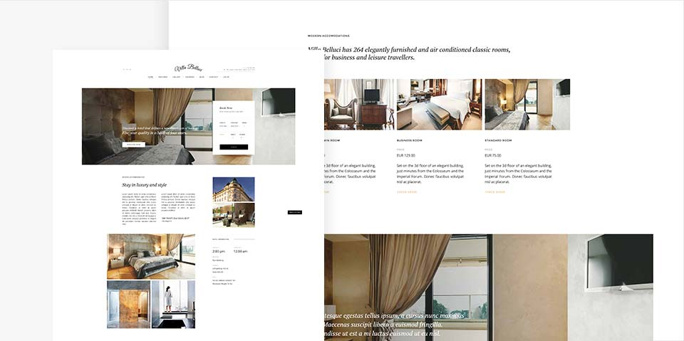 Hotel WordPress Theme | Villa Bellucci