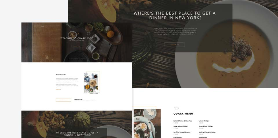 Quark WordPress Theme - Restaurant Style