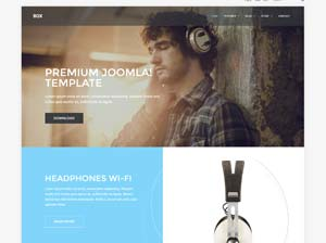 Box Sales and branding Joomla! template