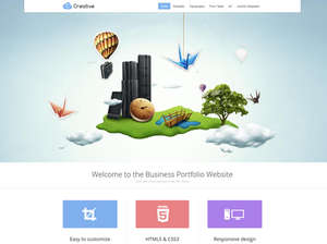 Creative - Parallax WordPress Portfolio Theme