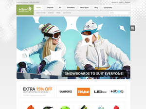 eSport eCommerce Joomla Template