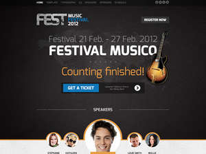 FEST - Events Joomla Template