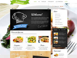 Restaurant - Restaurants, cafés, bars, pizzerias, food Joomla template