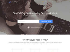 Simplicity -  Joomla Business Template for Startups